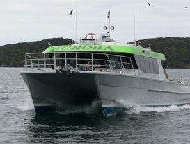 'Aurora' on a scenic cruise  through Paterson Inlet Marine Reserve