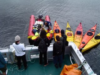 Aurora Charters hires and transports kayaks to Port Pegasus on Stewart Island
